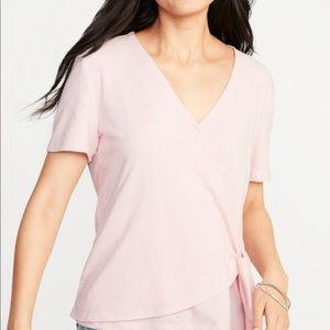 Wrap-Front Side-Tie Top